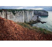 Red Soil on the Cliff - Travel Photography  Photographic Print