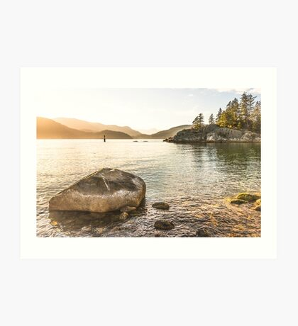 Leaving the Beach - Whytecliff Park, West Vancouver Art Print