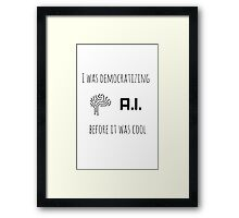 Democratizing AI Brain Version Framed Print