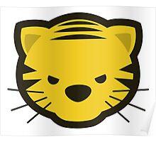 Kawaii Angry Tiger - Méchant Tigre Kawaii Poster