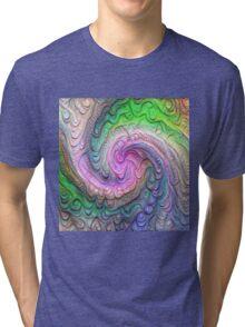 Frozen color Wave #DeepDream #Art Tri-blend T-Shirt