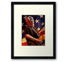 Legend Of Willie Nelson Framed Print