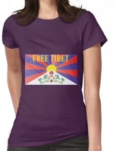 Free Tibet Movement Womens Fitted T-Shirt