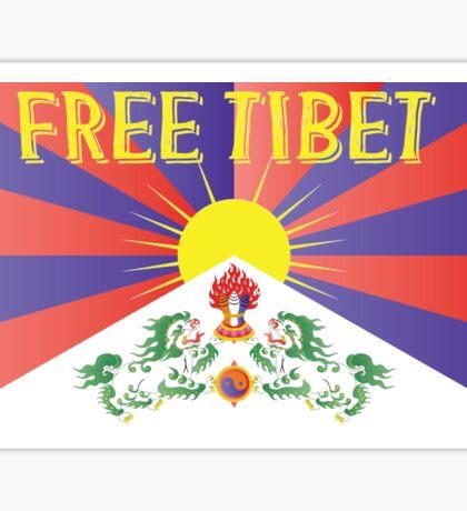 Free Tibet Movement Sticker