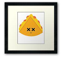 Quesadilla Emoji Faint and Knock Out Framed Print