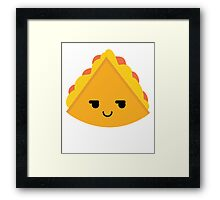 Quesadilla Emoji Cheeky and Up to Something Framed Print
