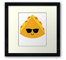 Quesadilla Emoji Cool Sunglasses Framed Print