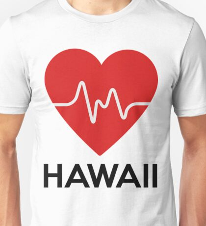 Heart Hawaii Funny Hawaii Shirt Unisex T-Shirt