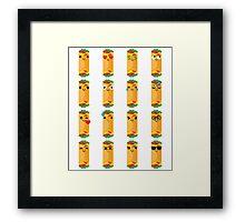 Burrito Emoji Different Facial Emotion Framed Print