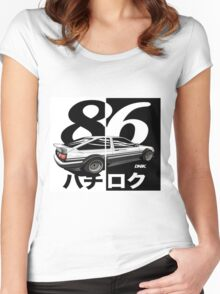 ae86 hatch 86 Women's Fitted Scoop T-Shirt