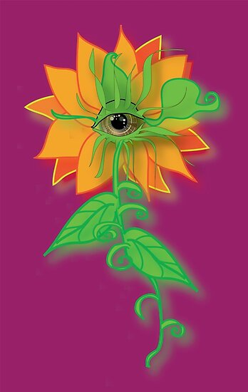 Amber-Eyed Flower by Robyn Scafone