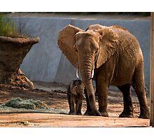 Mama Unngani and baby Photographic Print