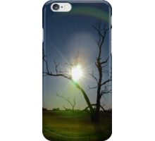 Green sun flare iPhone Case/Skin