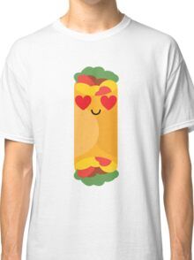 Burrito Emoji Heart and Love Eye Classic T-Shirt