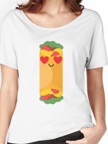 Burrito Emoji Heart and Love Eye Women's Relaxed Fit T-Shirt