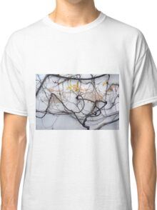 Dry tree branches on a white wall Classic T-Shirt