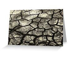 Parched Land - Clay Cracks and Nature Pattern Greeting Card
