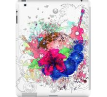 Grunge tropical patry poster iPad Case/Skin