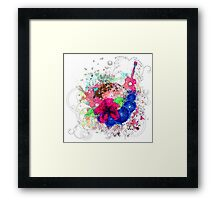 Grunge tropical patry poster Framed Print