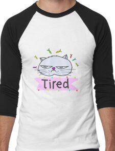 Tired cat Men's Baseball ¾ T-Shirt
