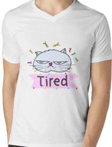 Tired cat Mens V-Neck T-Shirt