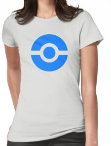 Pokeball Icon Blue Womens Fitted T-Shirt
