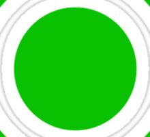 Pokeball Icon Green Sticker