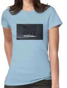 toyota ae86 burn out Womens Fitted T-Shirt