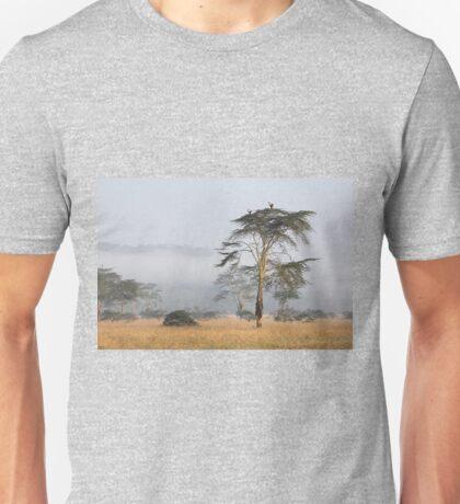 Morning Ritual in the Fog. Lake Nakuru, Kenya. Unisex T-Shirt