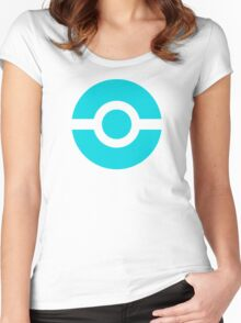 Pokeball Icon Teal Women's Fitted Scoop T-Shirt