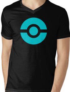 Pokeball Icon Teal Mens V-Neck T-Shirt