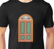 Glitch furniture door color orange wood door Unisex T-Shirt