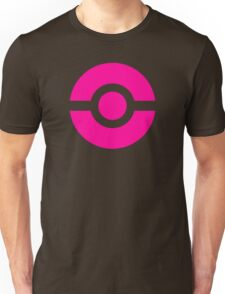 Pokeball Icon Pink Unisex T-Shirt