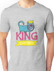 Cat - king of parties  Unisex T-Shirt
