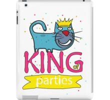 Cat - king of parties  iPad Case/Skin