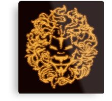 Lion Crest® - Flaming Lion Head Metal Print
