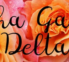 Alpha Gamma Delta AGD rose Sticker