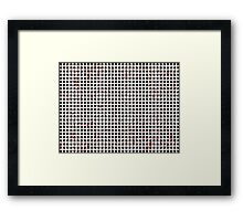 Black White Red Abstract Pattern Framed Print