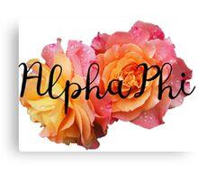 Alpha Phi rose Canvas Print