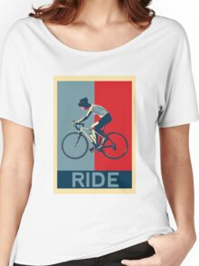 Ride - perfect for bicyclists and cyclists and those who love bikes Women's Relaxed Fit T-Shirt