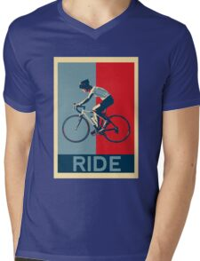 Ride - perfect for bicyclists and cyclists and those who love bikes Mens V-Neck T-Shirt