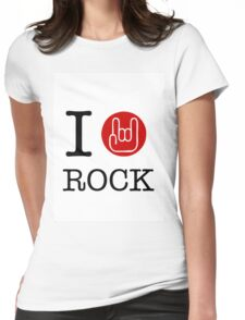 I love rock Womens Fitted T-Shirt