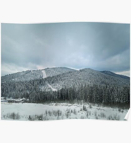 snowy hills Poster