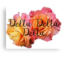 Delta Delta Delta Tri delt rose Canvas Print