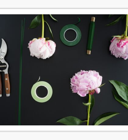 Florist workplace and accessories Sticker