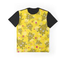 Seamless pattern with cartoon monsters Graphic T-Shirt