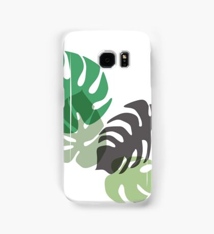 Monstera tropical palm leaves. Samsung Galaxy Case/Skin