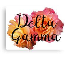 Delta Gamma DG Rose Canvas Print