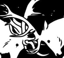 Deer clash Sticker