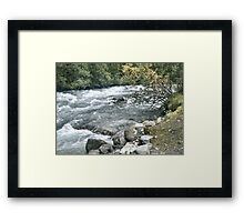 TUMBLING STREAM NORWAY  Framed Print